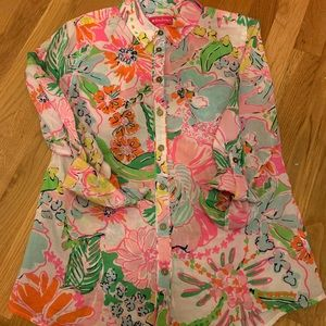 Lilly for Target Nosey Posey Button Down